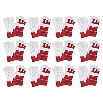Promax ZA039 Zeen Cuff Gloves Set of 12 - Red and Grey