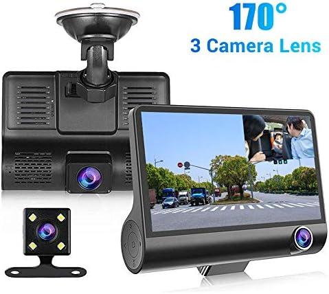 車のための3 LENSダッシュカム1080P FHDカメラ170°広角Gセンサーループ・レコーディングスーパーナイトビジョンと24時間の駐車場モニター付き