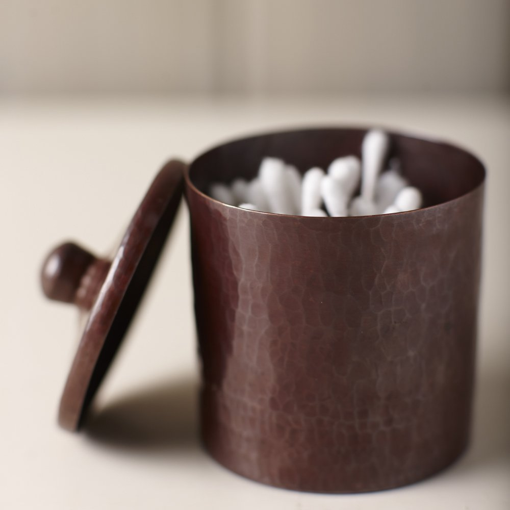 Native Trails Medium Cotton Ball and Swab Holder, Antique Copper Finish, 4-inches by Native Trails (Image #1)