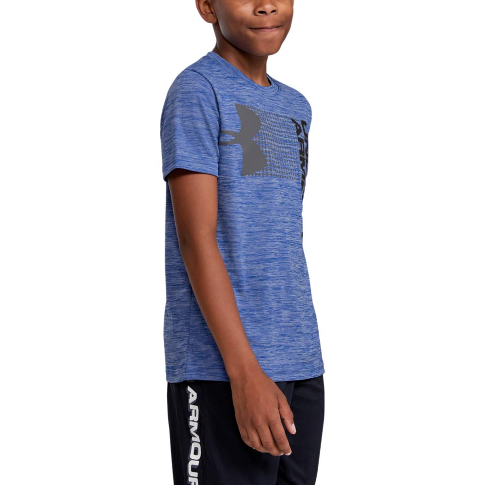 Under Armour Boys' Crossfade T-Shirt, Royal (400)/Black, Youth Large by Under Armour