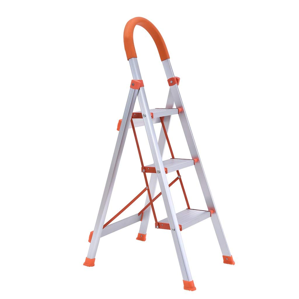 Step Stool Stepladders Lightweight 2 3 Step Folding Step Ladder with Anti-Slip Sturdy and Wide Pedal Ladder for Photography, Household and Painting 300lbs White 01 3 Step