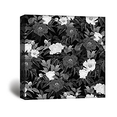 Square Flowers in Black and White Gallery …