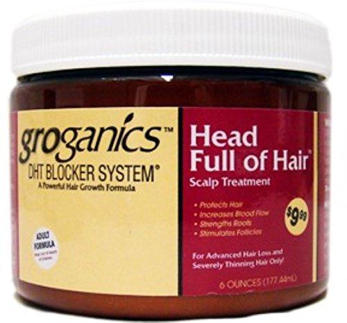Groganics Head Full of Hair, 6 Ounce