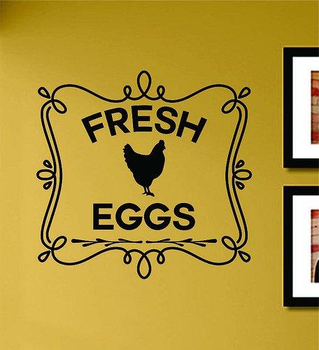 Fresh Eggs Chicken Vinyl Wall Art Decal Sticker Vinyl Chicken