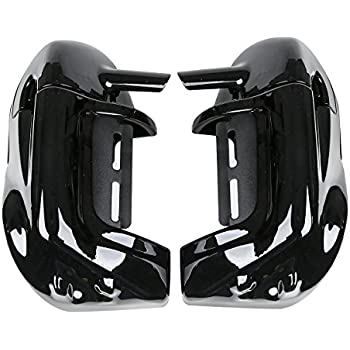 XMT-MOTO Lower Vented Leg Fairing + 6.5 Speakers w/ Grills For Harley Touring 1983-2013
