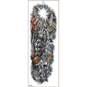 7pcs Gran Brazo completa del tatuaje del tatuaje del león mangas ...