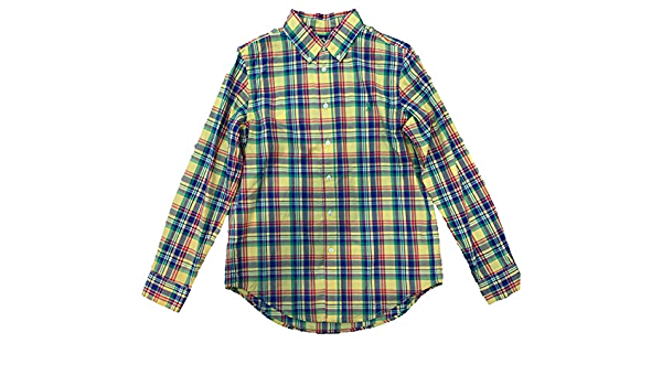 Ralph Lauren - Camisa Manga Larga - Amarilla: Amazon.es: Ropa