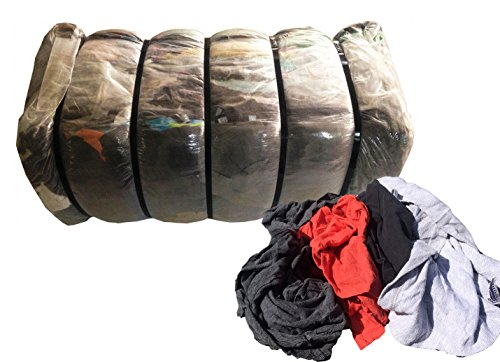 100 Lb Shop Rags - Also called Cotton Nylon Rags, Cleaning Towels, Wiping Cloths, Cloth Rags, Recycled Rags, Tshirt Cloth Rags by Sandbaggy