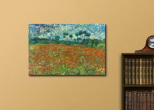 Poppy Field by Vincent Van Gogh Print Famous Painting Reproduction