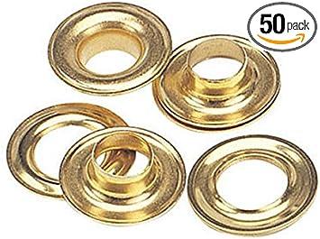 """Grommet 3//8/"""" Brass Set of 50"""