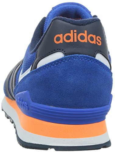 adidas NEO Herren 10k Low-Top Blau (Blue/Collegiate Navy/Solar Orange)