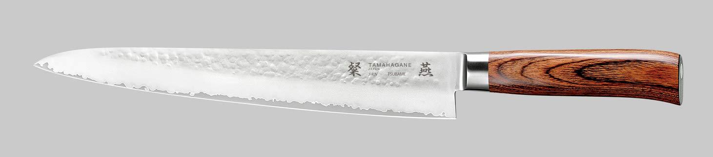 Tamahagane SAN Tsubame Stainless Steel Pakkawood Sujihiki Slicer Knife, 10.5-Inch