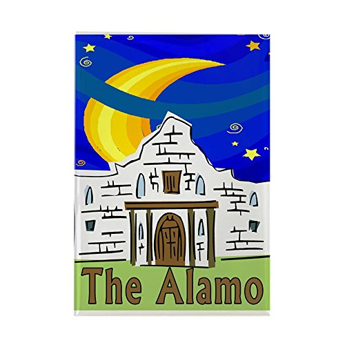 (CafePress Starry Night Alamo Rectangle Magnet Rectangle Magnet, 2