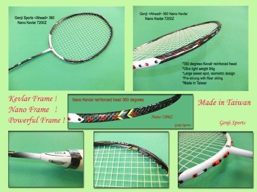 Genji Sports Ahead 360 Nano Kevlar 7200Z Badminton Schläger von Genji Sports