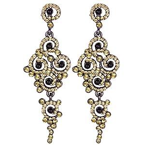 Vijiv Gatsby Earrings Art Deco Vintage 1920s Flapper Jewelry accessories Party