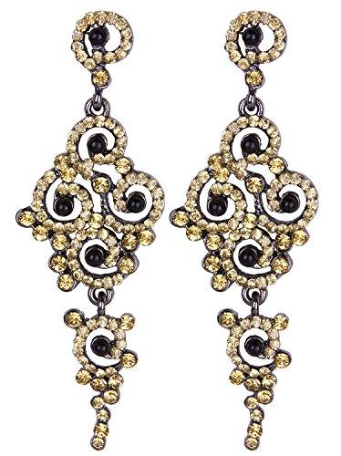 Vijiv Gatsby Earrings Art Deco Vintage 1920s Flapper Jewelry Accessories ()
