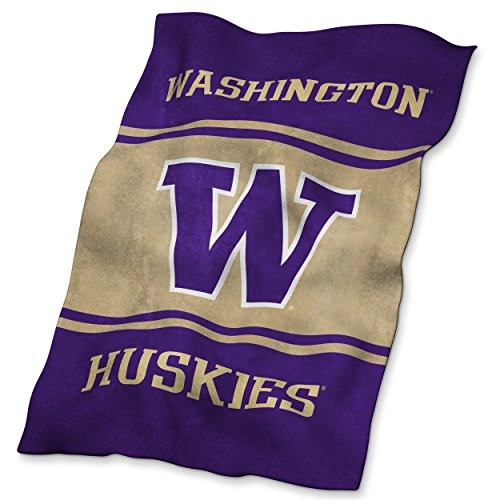 Logo Brands NCAA Washington Huskies Ultrasoft (Washington Huskies Fleece Throw)