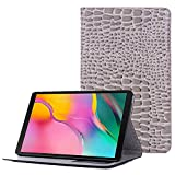 "Galaxy Tab A 8.0"" Case for Girls, Lightweight Stand Case, Wallet Pocket Screen Protector Shell with Kickstand Compatible for Samsung Galaxy Tab A 8.0 Inch 2019 Model SM-T290/SM-T295 (Grey)"