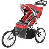 Schwinn Arrow Fixed Wheel Jogging Stroller - Red/Black