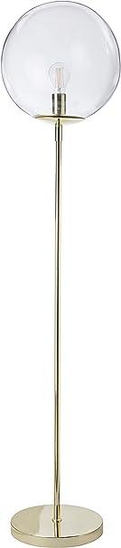 Luminaire Globus, lampadaire décoratif métal/verre, 40 W, or/laiton, ø 34 x H 160 cm