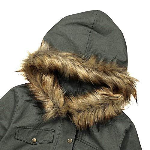 Hiver Warm Manches Coat Longues Femme vw7pxn