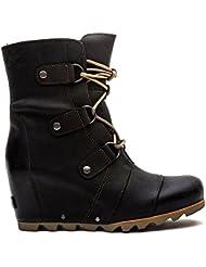 Sorel Womens Joan of Arctic Wedge Booties, Black, 7 B(M) US