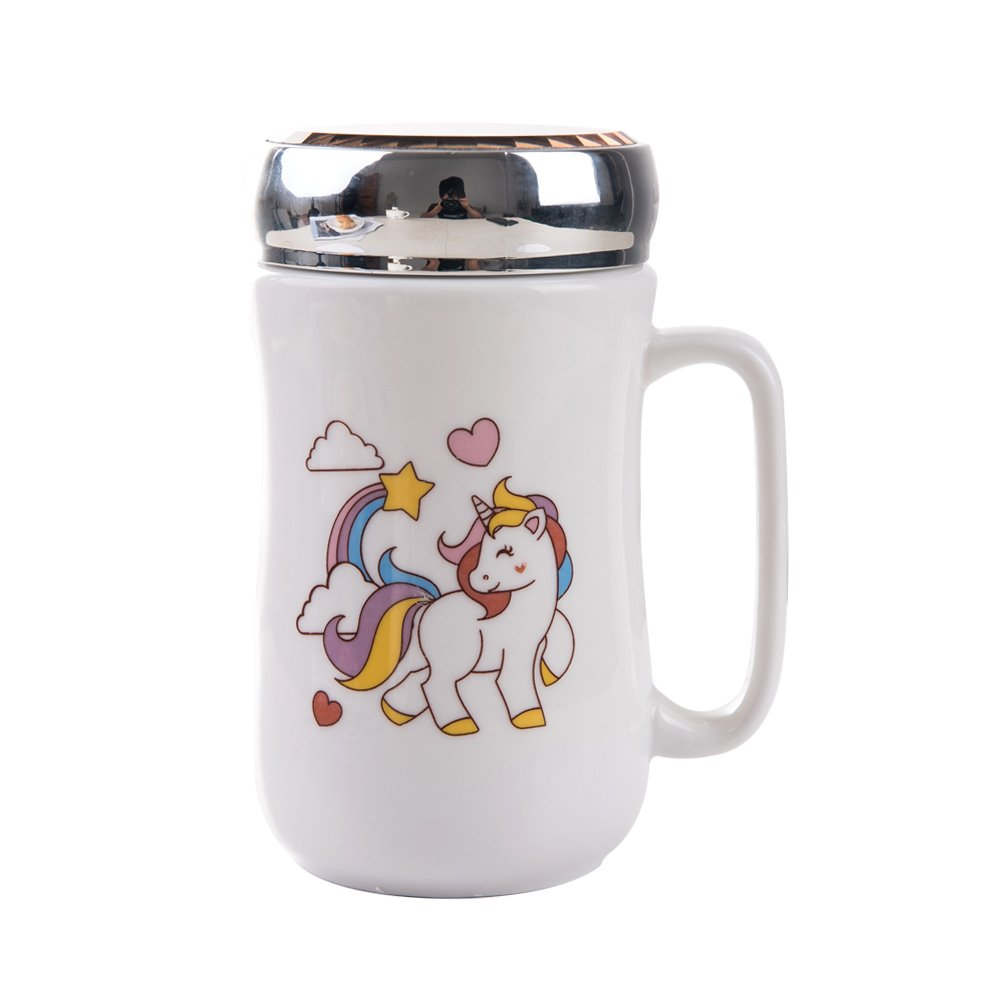 Unicorn Mug, Cute Ceramic Unicorn Coffee Mug(14Oz), Funny Unicorn Gift for Girls and Kids(Love)
