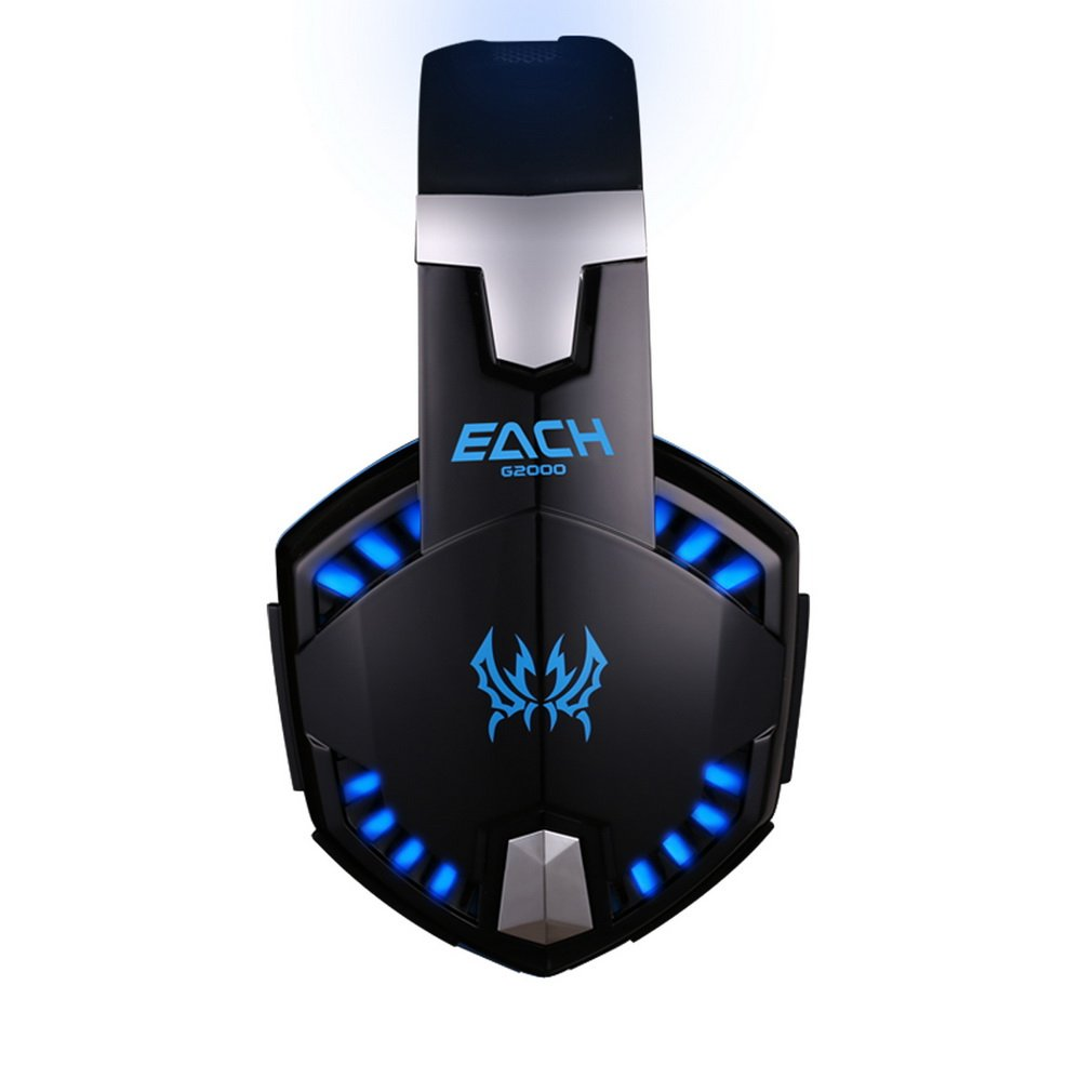 Amazon.com: KOTION EACH G2000C Stereo Gaming Over-ear Headphone with Mic,Volume Control, Bass, Noise Isolating and LED Lights for PC: Computers & ...