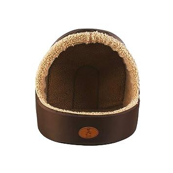 UKCOCO Cómoda Casa de Cama para Mascotas, Nido de Cama de Diseño Igloo para Perros y Gatos, Perrera de Otoño Invierno para Mascotas - Talla XS: Amazon.es: ...