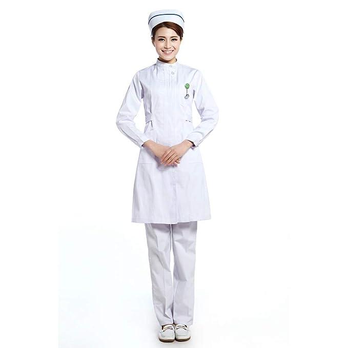 ESENHUANG Uniforme De Enfermera De Hospital Uniforme Médico De Uniforme De Médico Servicios Long Coat Plus Size para Invierno: Amazon.es: Ropa y accesorios