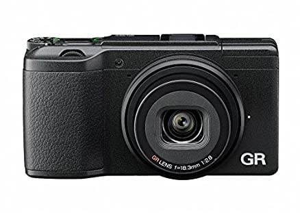 """理光GR II紧凑型相机,CMOS传感器APS-C 16百万像素镜头GR 28毫米F / 2,8,全高清短片,液晶3""""的Wi-Fi / NFC,黑色"""