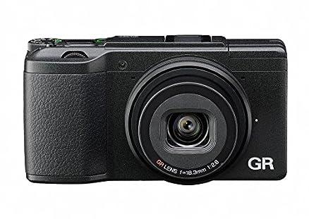 "Ricoh GR II Fotocamera Compatta, Sensore CMOS APS-C da 16 Megapixel, Obiettivo GR 28 mm F/2,8, Filmati Full HD, LCD 3"", Wi-Fi/NFC, Nero"