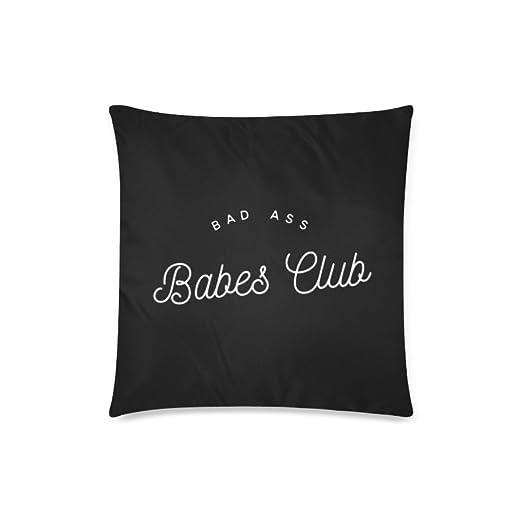 Custom Bad Ass Babes Club cojín casos con cremallera manta ...