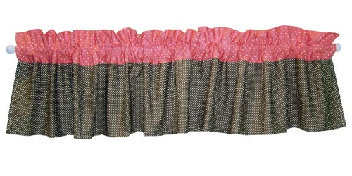 Trend Lab Cocoa Coral Window Valance, Coral Pink (Pink And Brown Polka Dot Nursery)