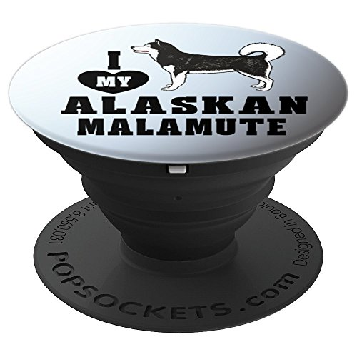 Alaskan Malamute Dog Breed - I Heart Love My Alaskan Malamute Dog Breed Pop Socket - PopSockets Grip and Stand for Phones and Tablets