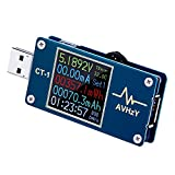 AVHzY CT-1 USB Meter Current Tester Voltage Detector, DC 5A 30V Digital Power Meter Test Speed of Charger, Cables, Capacity of Power Bank, Multi-Tester, PD Trigger, QC 2.0/3.0 Trigger