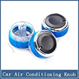 #8: Yosa 3pcs/set Car Air Conditioning knob Installation heat control Switch AC Knob for FORD FOCUS 2 focus 3 car accessorie parts (blue)