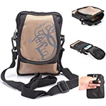 Multifunctional Sports & Outdoor Waist Pack Bag Cellphone Cross-body Shoulder Bag Holster with Belt Clip and Belt Loop for Carrying iPhone 6s 6 plus 5S LG HTC Samsung S5 S6 Edge Plus Note 5 4(Khaki)