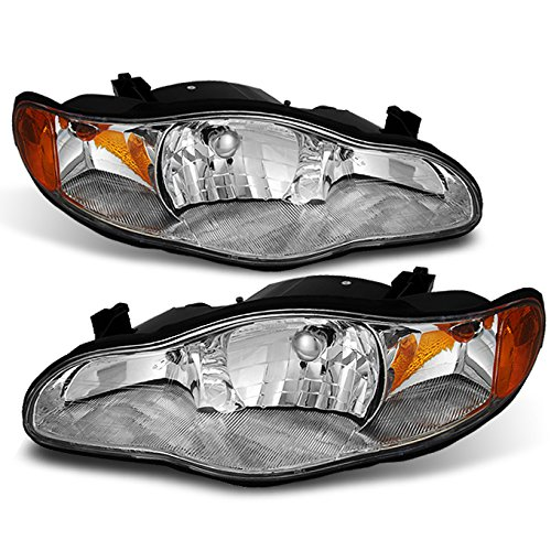 Headlamp Headlight Monte Chevrolet Carlo (Chevy Monte Carlo OE Style Chrome Headlights Replacement Driver/Passenger Head Lamps Pair New)