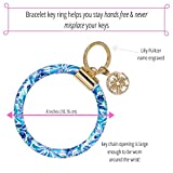 Lilly Pulitzer Blue Leatherette Round Key Ring