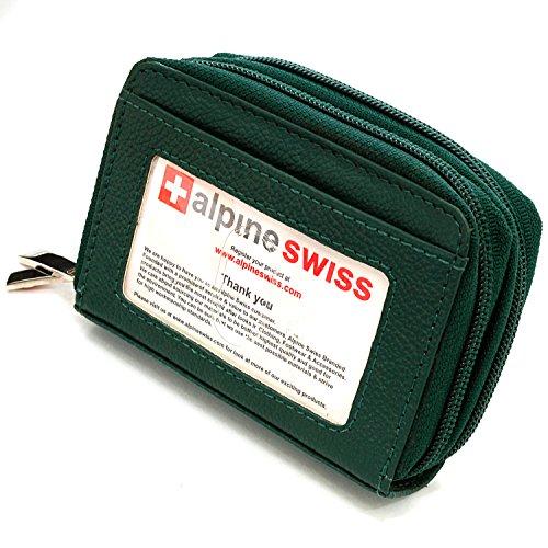 Accordion Purse (Alpine Swiss Womens Accordion Organizer Wallet Leather Credit Card Case ID,Dark Green,One Size)