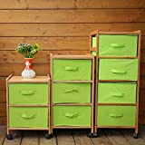 Modern bedside table Bamboo wardrobe Bamboo bedside table Simple fashion locker Green cabinets-A