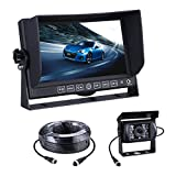 Backup Camera System with 7'' Display TFT LCD Car Monitor System for Heavy Trucks, Buses, Big Cars - PSD1237B