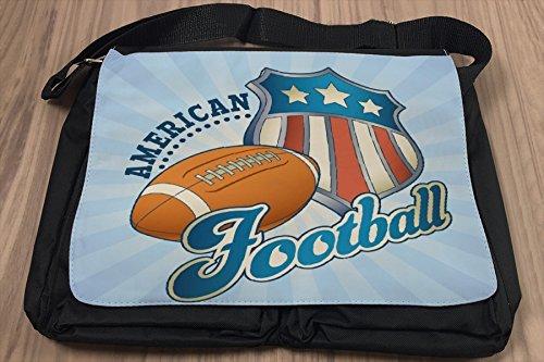 Umhänge Schulter Tasche Retro American Football bedruckt