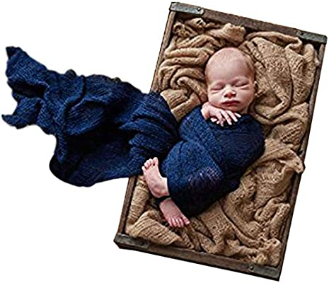d8fcf2909d0 Amazon.com  Sunmig Newborn Baby Stretch Wrap Photo Props Wrap-Baby  Photography Props (Navy)  Baby