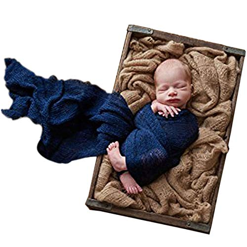 - Sunmig Newborn Baby Stretch Wrap Photo Props Wrap-Baby Photography Props (Navy)