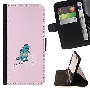 Momo Phone Case / Flip Funda de Cuero Case Cover - Hitchhiking Godzila - Funny - HTC DESIRE 816