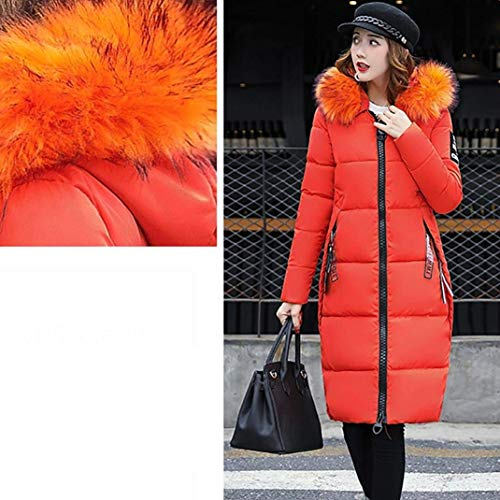 Padded Collar Solid Outwear Fur Oversize Parka Ladies Slim Faux Orange Down Jacket Jacket Hooded Tomwell Overcoat Women Warm Casual Winter Coat Slim Unx44qBwfF