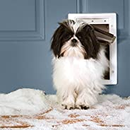 PetSafe Extreme Weather Energy Efficient Pet Door, Unique Three Flap System, White, for Small Dogs Up to 7 kg