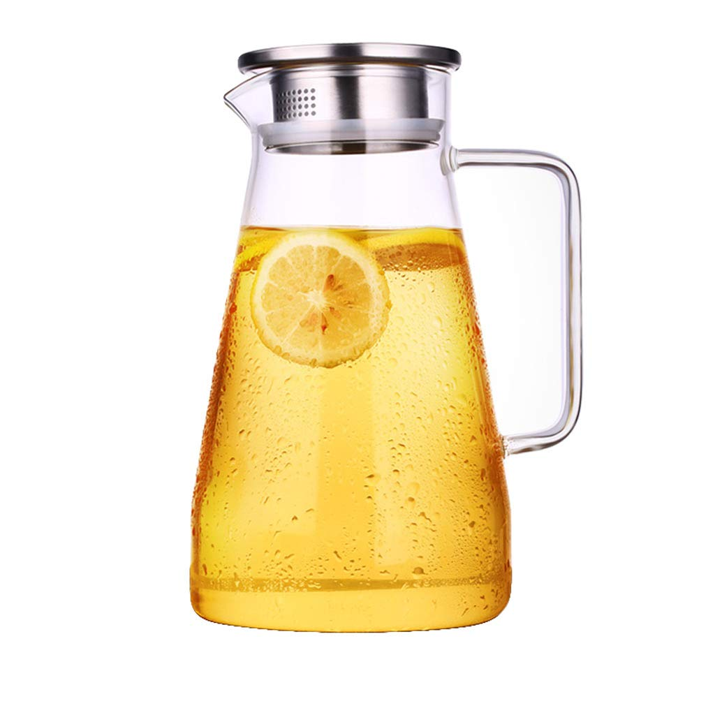 Teekanne LITING_Wang Haushalt Kaltwasserflasche Glas hitzebeständig Hochtemperatur Cool White Boiling Wasser Tasse Tie Pot Explosionsgeschützte Großraumwasserflasche (Kapazität : 1800ml)
